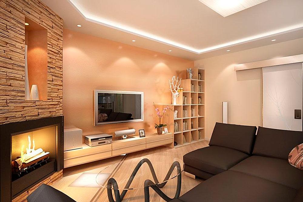 Дизайн залы в частном доме своими руками фото